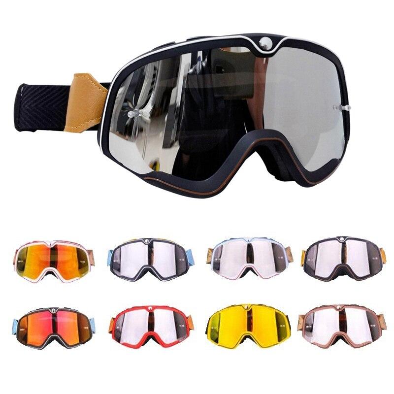 Retro Motocross Goggles MX Off Road Dirt Bike Motorcycle Helmets Goggles Ski Moto Glasses ATV for Motocross Glasses